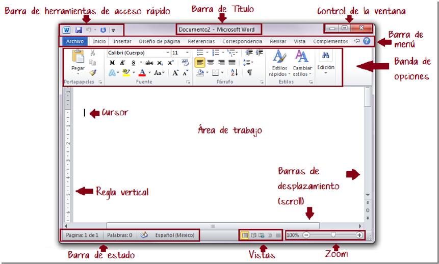 dCodinGames -  Elementos gráficos de una ventana típica en Windows